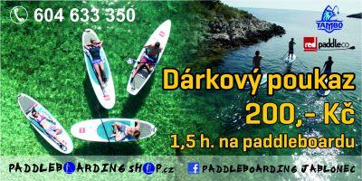 Paddleboardy - DÁRKOVÉ POUKAZY